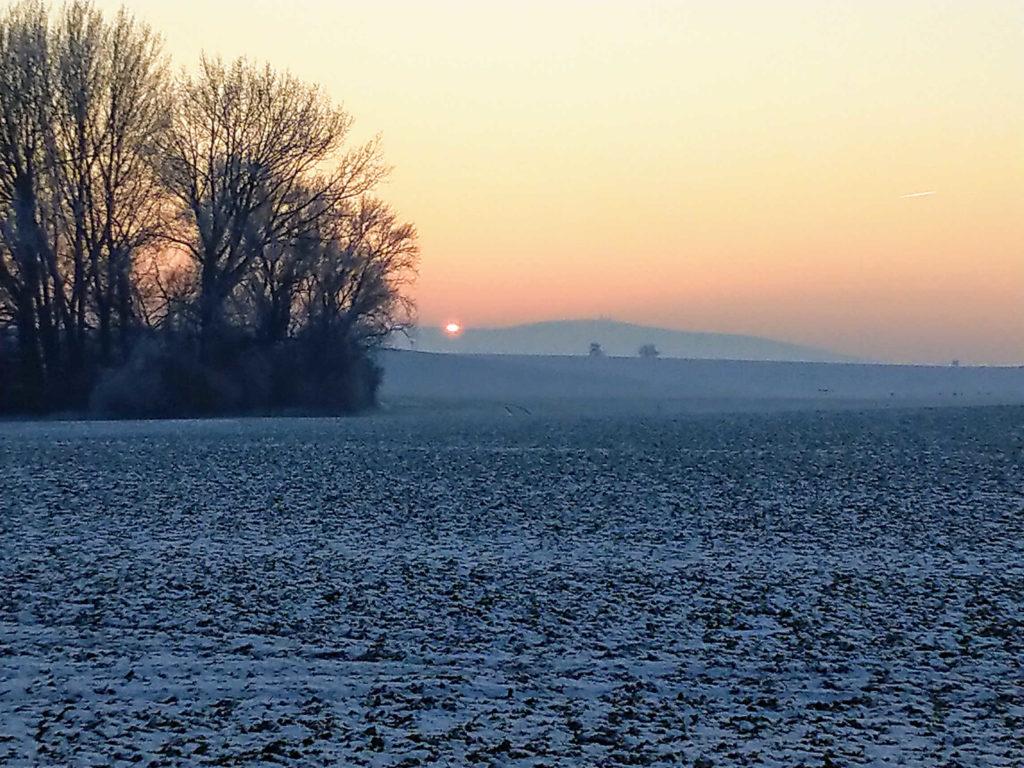 Winterimpression mit Blick auf den Brocken