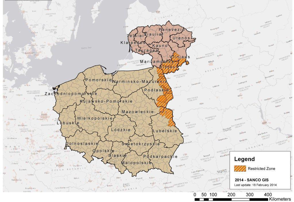 Karte ASP Polen