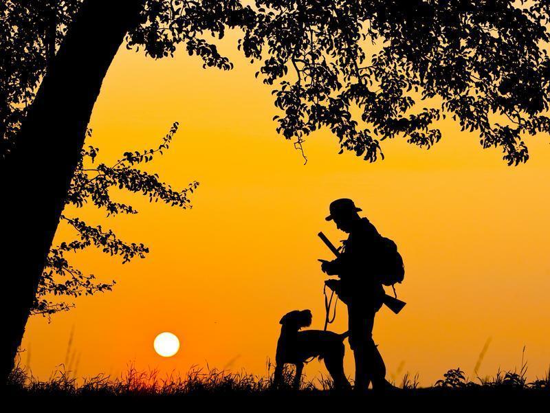 Jäger Sonnenuntergang